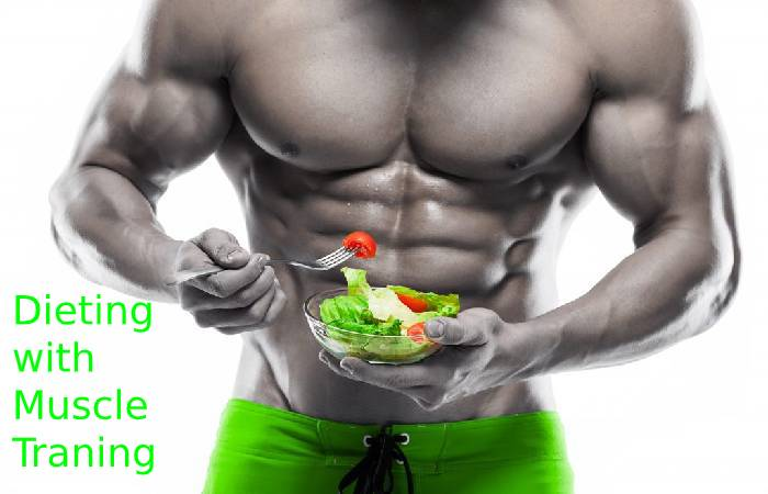Dieting with muscle training