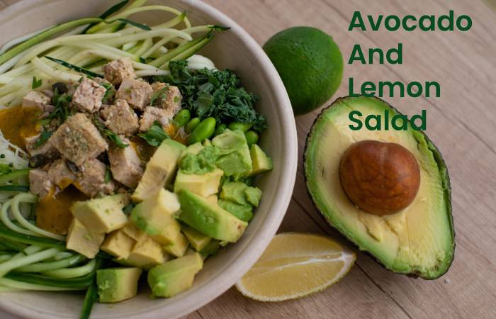 Avocado and lemon salad