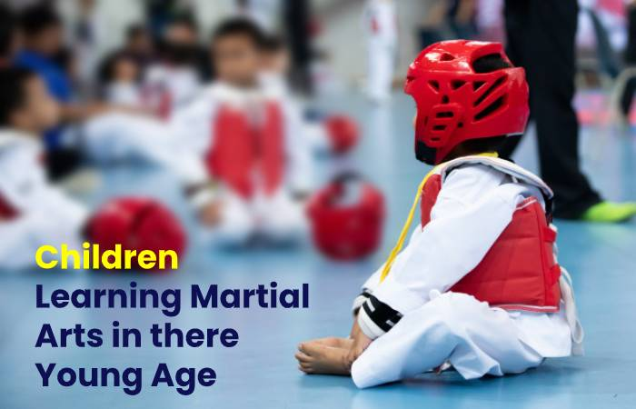 Children learning Martial Arts in there Young Age
