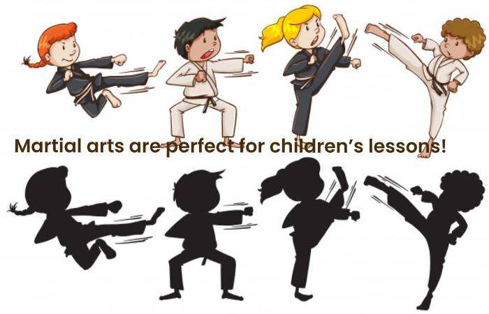 Martial arts are perfect for children's lessons!