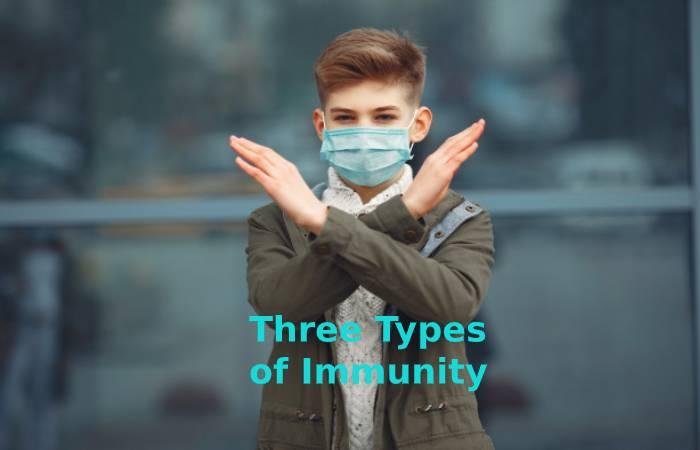 Three types of immunity