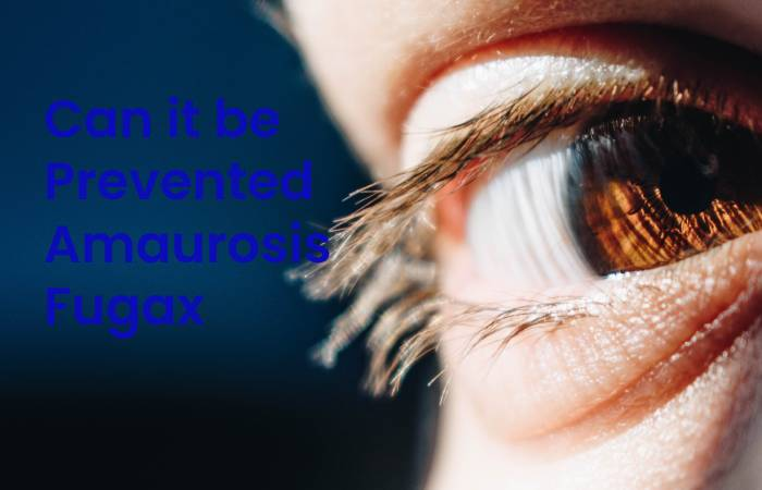 Can it be Prevented Amaurosis Fugax