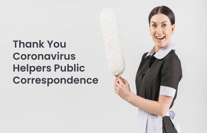 Thank You Coronavirus Helpers Public Correspondence