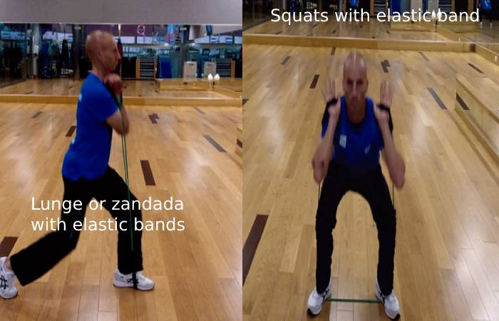 Squats with elastic band3