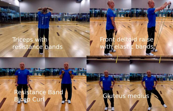 back exercises with band 2